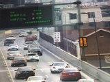 成都二环高架LED交通诱导屏添内容 拥堵状况一目了然